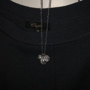 Charmed Pearl and Diamond Necklace